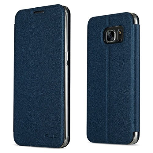 Samsung Galaxy S7 Case, CSTM Slim Flip Shell Case for Samsung Galaxy S7 Smartphone (Slim Book Series-Blue) by CSTM