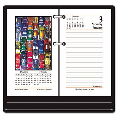 AT-A-GLANCE E417-50 Recycled Photographic Desk Calendar Refill, 3 1/2'' x 6'', 2015