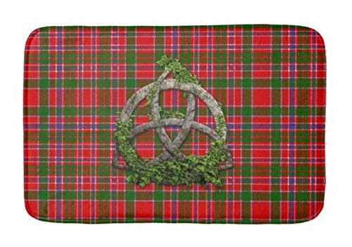 - Yesstd Celtic Trinity Knot and Clan macalister Tartan Absorbent Super Cozy Bathroom Rug Doormat Welcome Mat Indoor/Outdoor Bath Floor Rug Decor Art Print with Non Slip Backing 30