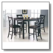 5pcs Martha Espresso Finish Counter Height Gathering Table Set