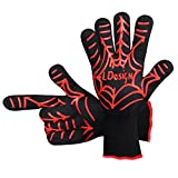 Grill Gloves, LDesign BBQ Cooking Gloves Heat Resistant Gloves Set for Barbecue, Oven, Smoking and Potholder with Silicone Grips – 1 Pair