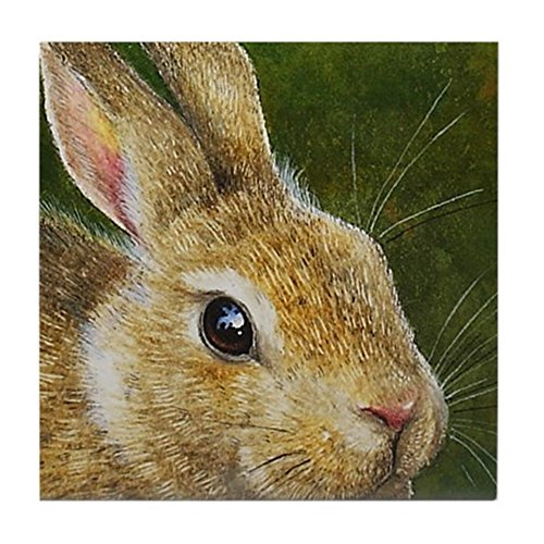 Drink Tile - CafePress - Bunny Rabbit Accent Tile Coaster - Tile Coaster, Drink Coaster, Small Trivet