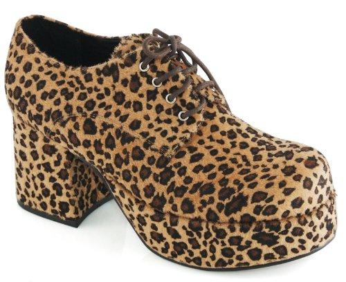 Pimp Adult Costume Shoes Leopard Print - Small