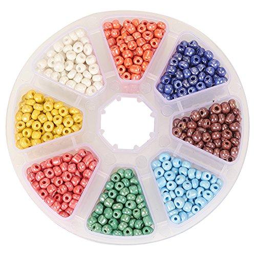 PandaHall Lustered Spacer Diameter Multi color
