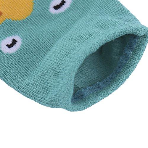samber algodón dibujos animados tridimensionales animal Party Impresión Niños Calcetines Calcetines de bebé Anti–Skid Calcetines rosa rosa Talla:S verde