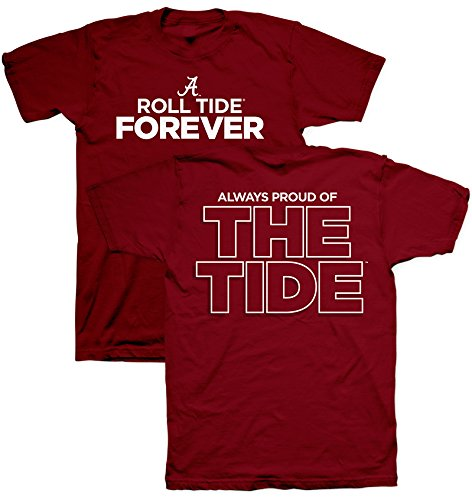 Always Proud of the Tide University of Alabama Crimson T-Shirt (Short Sleeve, 4XL) ()