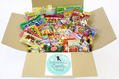 37 Japanese Candy and Snack Okashi Set with original Japanese Candy Ninja sticker