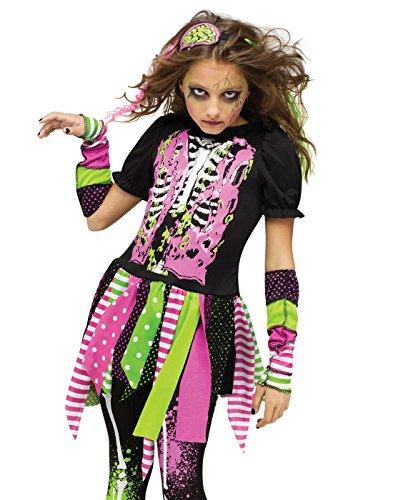 Neon Zombie Girl Kids Costume