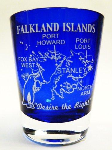 (Falkland Islands Cobalt Blue Shot Glass )