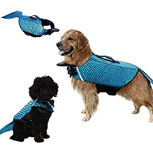 Albabara Dog Life Jacket Mermaid Fashion Floatation Vest Doggy Lifesaver Pet Puppy Preverver Doggies Safety Device Small… Click on image for further info.