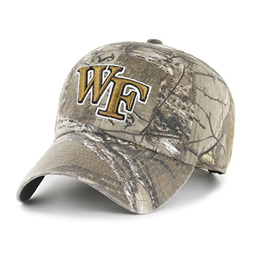 (NCAA Wake Forest Demon Deacons Realtree OTS Challenger Adjustable Hat, Realtree Camo, One Size)