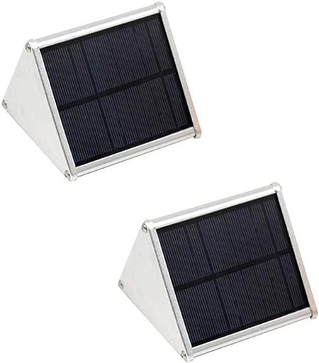 MITI Luz Solar Exterior LED Foco Solar Exterior De Movimiento Luces Solares LED Exterior Lámpara De Pared Impermeable Iluminación para Jardín Patio Camino Escalera 2 Pack: Amazon.es: Hogar