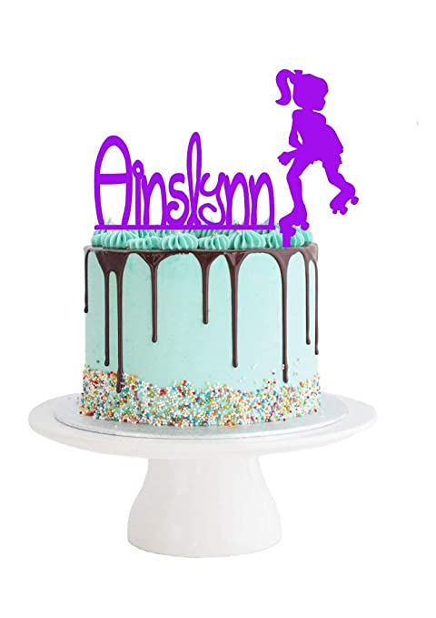 Groovy Big Roller Skating Birthday Cake Topper Set Roller Skate Cake Personalised Birthday Cards Petedlily Jamesorg