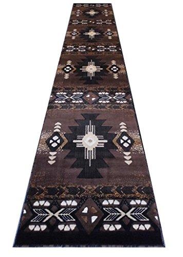 Navajo Brown Southwestern Rug - 9
