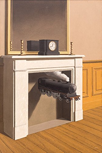 Time Transfixed - (Artist: Rene Magritte) c.1938 - Masterpiece Classic (16x24 Fine Art Giclee Gallery Print, Home Wall Decor Artwork ()