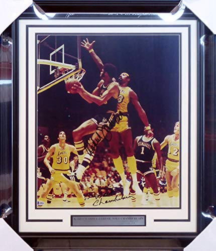 2cd0e6760b8 Los Angeles Lakers memorabilia. Wilt Chamberlain   Kareem Abdul-Jabbar  Autographed Signed Framed 16x20 Photo - Beckett Authentic