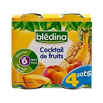 Bledina Fruchtcocktail (6 Monate) 4 X 130 G - Packung mit 6
