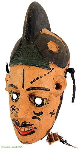 African Maiden Wall Decor - Igbo Mask Maiden Spirit Painted Nigeria African Art
