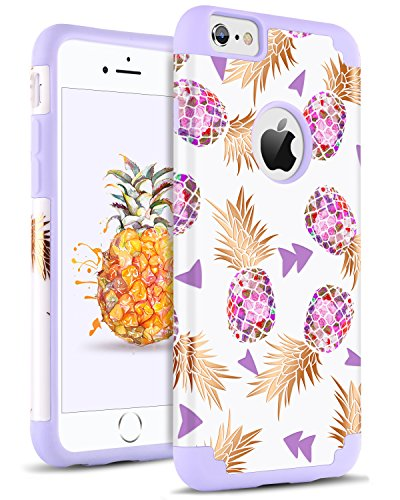 check out 08dce 86579 DOMAVER Case for iPhone 6S Plus/6 Plus Pineapple Drop Protection Hybrid  Hard PC Soft Rubber Protective Phone Case for iPhone 6 Plus/6S Plus,Purple