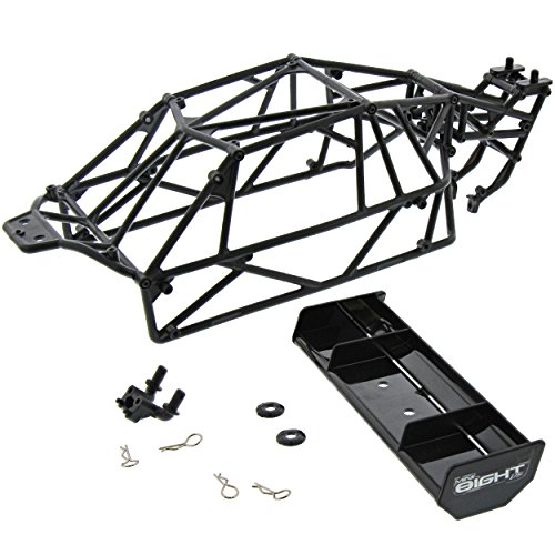 Team Losi Losi Mini 8IGHT DB Buggy 4WD 1/14: Roll Cage, Rear Wing, Screws & Body Clips (8ight Body Buggy)