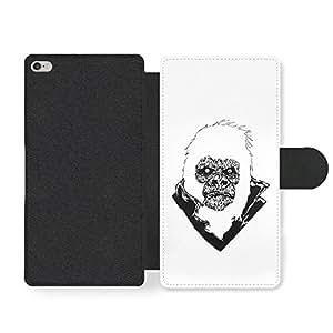 Cool Punk Rock Gorilla Illustration in Black and White Funda Cuero Sintético para iPhone 6 Plus 6S Plus