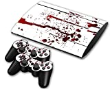 CSBC Skins Sony PS3 Super Slim Design Foils Faceplate Set - Blood Design