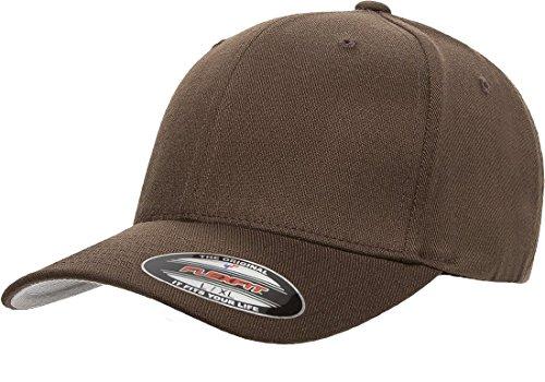 (Flexfit 6477 Wool Blend Cap - Large/X-Large (Brown))
