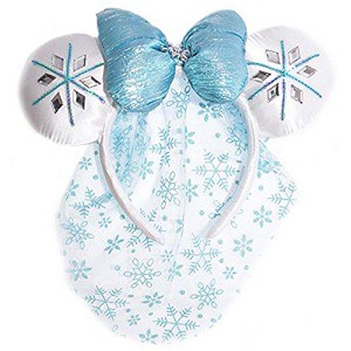 Disney Frozen Headband (Disney Parks - Frozen Minnie Mouse Ears Headband with Bow)