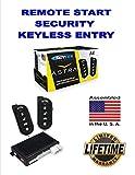 Car Alarm Security System, Keyless Entry 1-Way LCD Remote Start Scytek A4