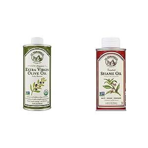 La Tourangelle, Organic Extra Virgin Olive Oil, 25.4 Fl Oz & Toasted Sesame Oil, 8.5 fl oz