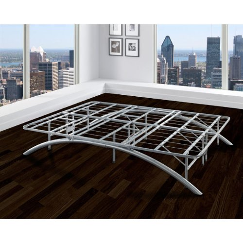 arch flex queen size silver bed frame stronger than most iron bed frames holding up to 3000lbs you cant go wrong with this modern queen size bed that