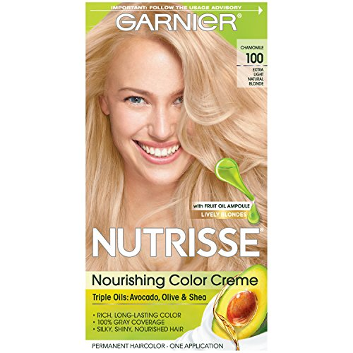 Garnier Nutrisse Nourishing Hair Color Creme, 100 Extra-Light Natural Blonde (Chamomile) (Packaging May (Nourishing Hand Creme)
