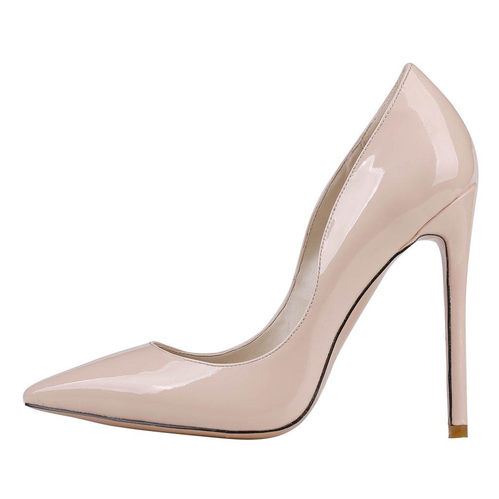 EKS - Zapatos de Tacón Mujer 42 EU - Nackt-Lackleder
