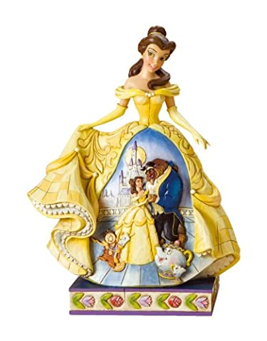 Disney Traditions by Jim Shore Belle Stone Resin Figurine (Disney Traditions Beast)