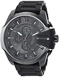 Men's 'Mega Chief' Quartz Stainless-Steel-Plated Watch, Color:Black (Model: DZ4486)