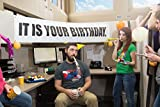 """It is Your Birthday Banner The Office - Banner from The Office Birthday Decorations - Vinyl Birthday Banner Party Decoration 15""""x72"""""""