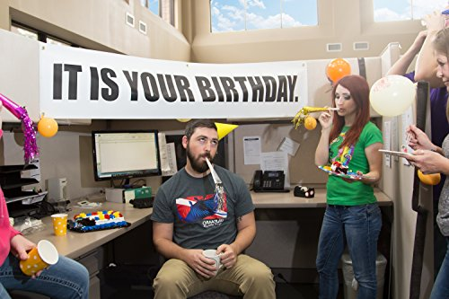 It is Your Birthday Banner The Office - Banner from The Office Birthday Decorations - Vinyl Birthday Banner Party Decoration 15 x 72 inch]()