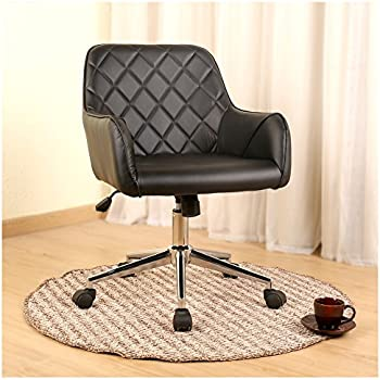 stylish office chairs. Veigar Stylish Office Chair PU Leather Mid Back Executive Home With Adjustable Height, Chairs