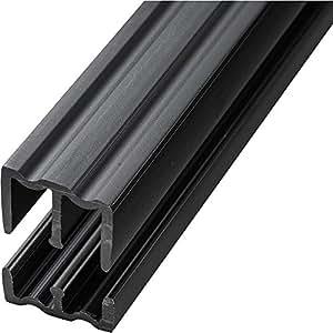 Amazon Com Black 4 Foot Plastic Sliding Door Track