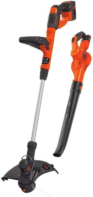 BLACK+DECKER LCC340C 40V MAX Lithium String Trimmer/Sweeper Combo Kit (Renewed)