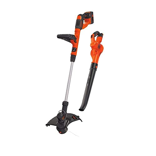 BLACK DECKER LCC340C 40V MAX Lithium String Trimmer Sweeper Combo Kit Renewed