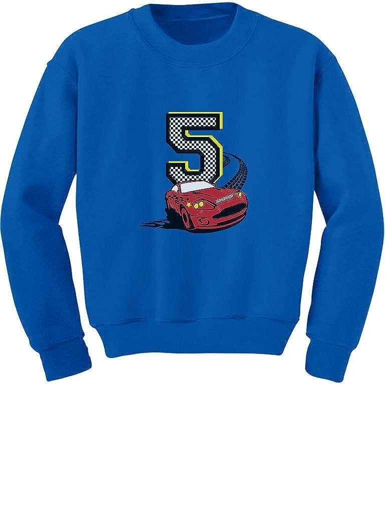 TeeStars - 5th Birthday 5 Year Old Boy Race Car Party Toddler/Kids Sweatshirt 5/6 Blue GtPh0hlgf5P0f59M/Z