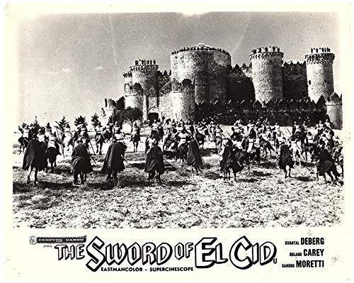 (Sword of El Cid Original Lobby Card Ancient Castle Italian Epic La Spada Del cid)