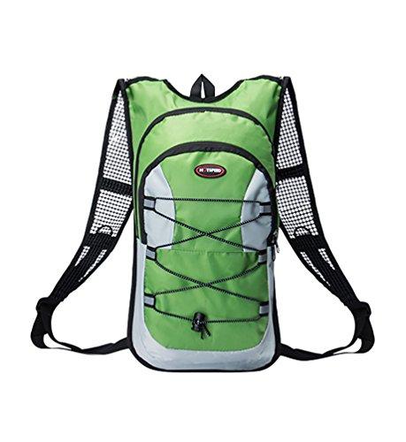 YiJee 12L Bolsa Mochila de Agua Hidratación para Bicicleta Excursión Verde