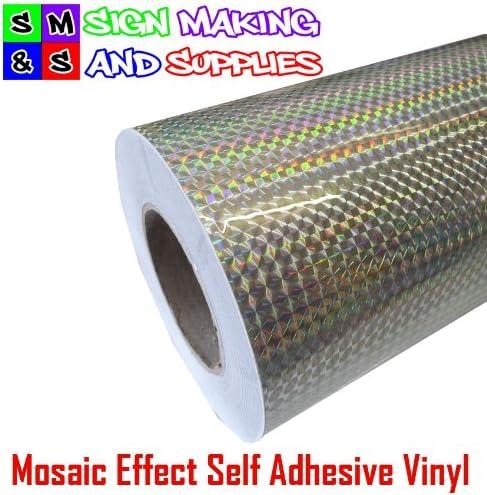 Autoadhesivas de vinilo efecto mosaico plateado rollo de 1 meter x 305 mm de plástico Manualidades para cortador de Plotters: Amazon.es: Hogar