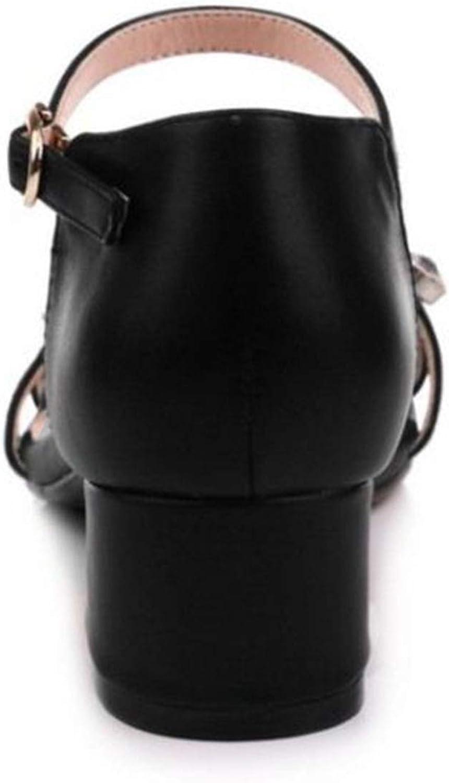 Women High Heel Sandals Square Toe Crystal Ankle Strap Fashion Women Summer Shoes Wedding Club Footwear,Black,5