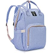 Diaper Bag Multi-Function Waterproof Travel Backpack Nappy Bags for Baby Care, Large Capacity, Stylish and Durable, Mom Bag by Lifecolor (Blue Purple)