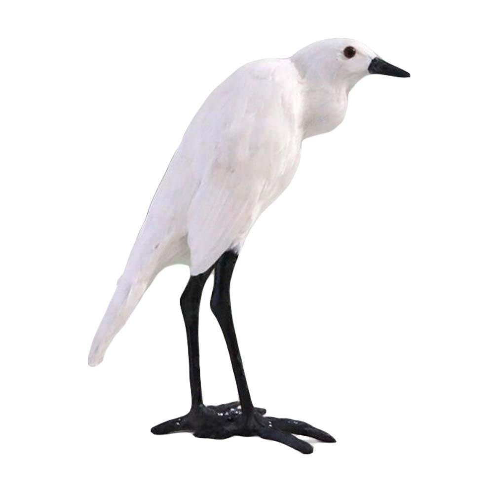 Panda Legends Egret - Simulation Ornaments Artificial Birds Feathered Bird Model Home Decor