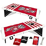 Wisconsin Badgers Fanatic Baggo Bean Bag Toss Portable Cornhole Game