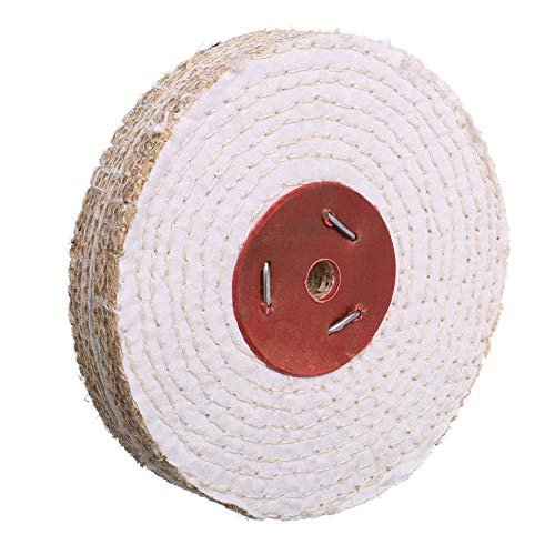 Extra Thick (1 inch) Spiral Sewn Sisal Buffing Polishing Wheel 6 inch For Bench grinder With 1/2